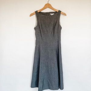H&M Fit and Flare Midi Dress in Gray